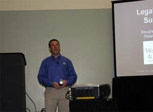Photo Jamie ThompsonAttorney Doug Wolfberg speaks during a session at EMSToday in Baltimore.