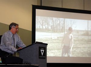 Photo Jamie ThompsonBen Usatch speaks to an EMS Today session about side effects of the date rape drug.