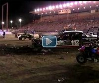 Racecar crashes into crowd at state fair