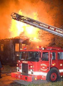 Photo Jason Frattini Detroit firefighters responded to 169 fires during Halloween weekend.