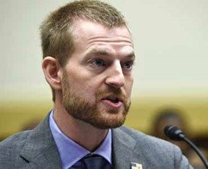 In a Sept. 17, 2014 file photo, Ebola survivor Dr. Kent Brantly, former Medical Director of Samaritan's Purse Ebola Care Center in Monrovia, Liberia, testifies before the House Foreign Affairs subcommittee on Africa, Global Health, Global Human Rights, and International Organizations during a hearing on Ebola on Capitol Hill in Washington. (AP Photo/Susan Walsh, File)