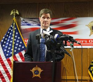 In this Feb. 12, 2018, file photo, District Attorney John Chisholm discusses criminal charges he filed against three county jail staffers in Milwaukee, for the dehydration death of an inmate in 2016. (AP Photo/Ivan Moreno)