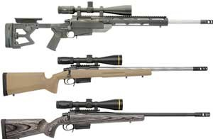 The M2012 is available in three models, all of which feature .308 Winchester chambers and one with an optional .260 Remington chamber. (Photo courtesy Colt)