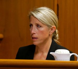Waukesha Police Detective Michelle Trussoni testifies about her interview with Anissa Weier in Waukesha County Court, Wednesday, Sept. 13, 2017, in Waukesha, Wis. (Rick Wood /Milwaukee Journal-Sentinel via AP, Pool)
