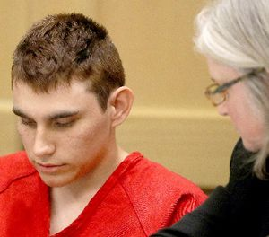 In this Feb. 19, 2018 file photo, Nikolas Cruz, accused of murdering 17 people in the Florida high school shooting, appears in court for a status hearing in Fort Lauderdale, Fla. (Mike Stocker/South Florida Sun-Sentinel via AP, Pool, File)