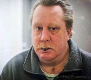 """This undated photo provided by Jeremy Weis Photography, shows Russell Bucklew, who is scheduled to die by injection Tuesday, March 20, 2018, for killing a former girlfriend's new boyfriend in 1996 in eastern Missouri. Bucklew faces a potentially """"gruesome and painful"""" execution because of a rare medical condition that compromises the man's veins and causes multiple tumors in his head and throat, his attorney said Sunday. (Jeremy Weis Photography via AP)"""