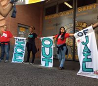 Police arrest 4 at ICE protest outside Ariz. jail