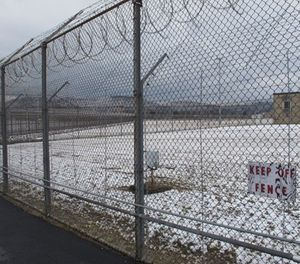 now blankets the grounds of the Southern Ohio Correctional Facility on Wednesday, March 6, 2013 in Lucasville, Ohio. (AP Photo/Andrew Welsh-Huggins)