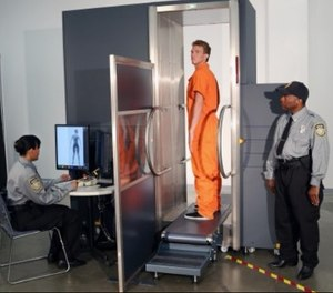 A walk-through body scanner placed where inmates enter and leave the facility for medical appointments or court appearances provides another opportunity for detecting contraband. (image/Smiths Detection)