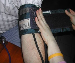 The most common error when using indirect blood pressure monitoring equipment is using an incorrectly sized BP cuff