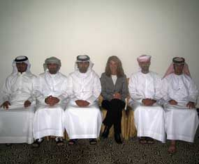 PoliceOne Columnist Betsy Brantner Smith is seated with her students from Abu Dhabi Police Department during a January 2010 training session in Dubai, United Arab Emirates.