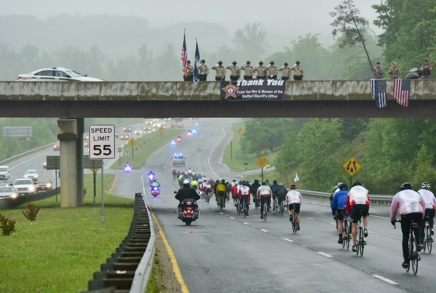 Riders stop at towns and departments where an officer has been killed in the line of duty. (Photo/LEU)
