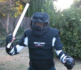The High Gear suit is a padded and articulated suit designed for close quarter training.