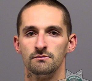 Nicholas James Cantrell, 28, pleaded guilty to felon in possession of a firearm and assault of an officer. (Photo/Clackamas County Sheriff's Office)