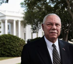 """General Colin Powell, seen in a 2011 photo outside the White House, once famously said, """"Leadership is solving problems. The day soldiers stop bringing you their problems is the day you have stopped leading them. They have either lost confidence that you can help or concluded you do not care. Either case is a failure of leadership."""" (Photo/AP)"""