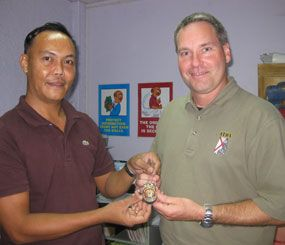 "Vest For Life co-founder Clint Reck traveled to the Philippines to meet Captain Bong Dalmatia of the Philippine National Police Force in 2009. ""He gave me his badge, and I still keep it in my office today to remind me of how precious life really is,"" Reck told PoliceOne."