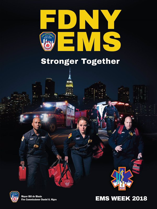 FDNY unveiled their poster in celebration of EMS Week 2018. (Photo/FDNY)