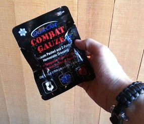 Pictured above is the packet of combat gauze carried around by PoliceOne Editor in Chief Doug Wyllie. (PoliceOne Image)