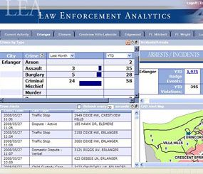 Erlanger (Ky.) PD uses Information Builders' WebFOCUS Magnify software to generate real-time search results for police officers in the field, and provide detailed analytics to command staff. (PoliceOne Image)