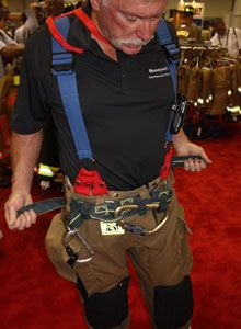 Photo by Scott BrunerHoneywell Responder Gear introduced the G Model of their Class II Spider Harness, which is mounted externally at the waist and can be adjusted for fit on the fly.