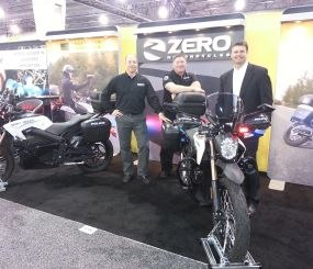 My friends from Zero Motorcycles wouldn't tell me what (if anything) the new logo might indicate about impending news, but they were happy to pose for a picture at the booth.