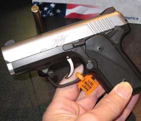 """Today's """"little"""" guns often function fine but often fail when it comes to ergonomics. That's not the case with the new Kimber SOLO ultra-compact, single column 9mm pistol. (PoliceOne Image)"""