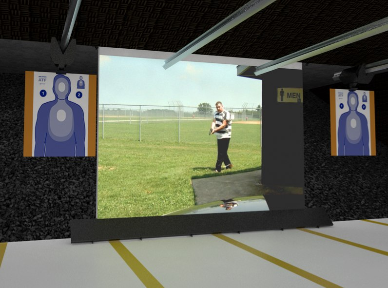 The easy-to-install, self-healing screen can be used with various types of weapons. (Photo/Meggitt Training Systems)