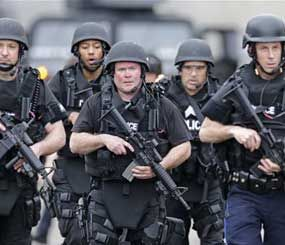 If law enforcement has become militarized, then the same is true for trauma medicine, aviation, video games, deer hunting, satellite television, and GPS navigation. (AP Photo)