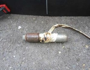 The pipe bomb apparently did not blow up because it malfunctioned, deputies said. (Photo courtesy El Dorado County Sheriff)