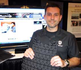 The Cooling and Trauma Attenuating Vest is a thermo-regulating and blunt-trauma attenuating panel that goes behind tactical and concealable body armor. (PoliceOne Image)