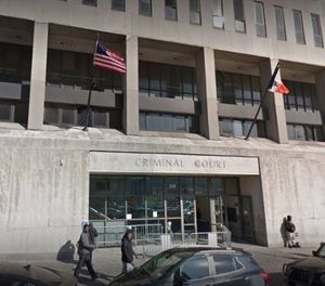 The inmate became combative Wednesday night after he refused to be transported from the Bronx Criminal Courthouse. (Photo/Google Maps)