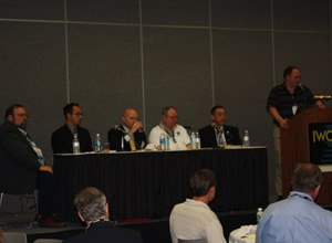 Photo Scott BrunerAt the IWCE 2010 show in Las Vegas a panel of communications experts debated the future of public safety radio.