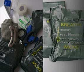 The Trauma Rapid Intervention Kit can fir in cargo pants or a squad car to provide the right tools when every second counts. (Medical Tactics Image)