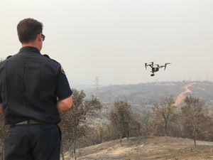 The Twain Harte Fire Department chief used drones to survey the wildfire. (Photo/Courtesy of Menlo Park Fire Department)