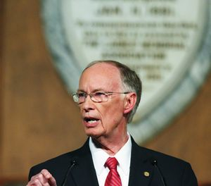 Alabama Gov. Robert Bentley speaks during the annual State of the State address at the Capitol, Tuesday, Feb. 7, 2017, in Montgomery, Ala. (AP Photo/Brynn Anderson)