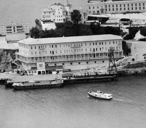 In this June 12, 1962, file photo, Alcatraz Federal Penitentiary in San Francisco Bay is shown the day three prisoners escaped. (AP Photo/File)