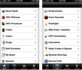 Screenshot of the US cop app (Photo courtesy iTunes)