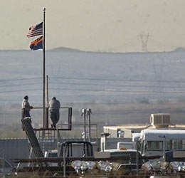 Officer's overlooking the yard at the Arizona State Prison Complex - Lewis (AP photo)