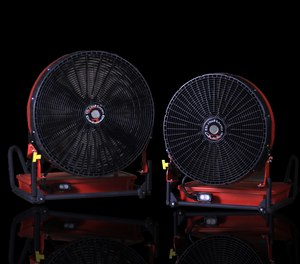 The new BlowHard fans are designed to withstand the same intense environments as firefighters themselves encounter. (Photo/BlowHard)