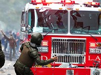 Driverless fire trucks spark parade confusion, near riot
