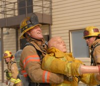 Firefighter training can be fun and serious at the same time