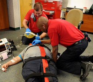 Traditional lecture-style classrooms are getting a new look in some foundational paramedic programs. (Photo/USAF)