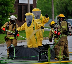 The incident commander's ability to critically and effectively apply a risk-based response methodology provides the foundation for a safe hazmat response. (Photo/DoD)