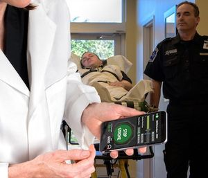 By using a tool like Pulsara, EMS providers can easily share patient information, as well as their location and estimated time of arrival in real time. (image/Pulsara)