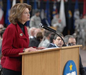 Sen. Lisa Murkowski, R-Alaska, was asked to co-chair the Congressional Fire Caucus, filling the seat previously held by Sen. John McCain before his death last year. (Photo/DoD)