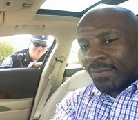 Black Ind. driver takes selfie with white cop, says 'neither of us are the enemy'