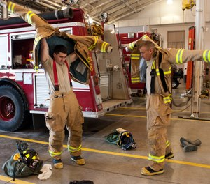 If you want firefighters and members of the community to understand and respect the hazards that are attached to the job, then you must project a consistent message and attitude about safety in all areas. (Photo/DoD)