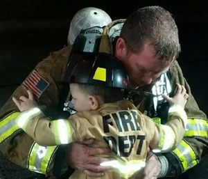 To all the fire service fathers – thank you. (Photo/Natalie Reese Bicknell)