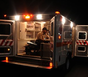 AMR's advertising was right; EMTs and paramedics do deserve to be treated the same as their fire department colleagues and counterparts, and that starts with equal protection. (Photo/USAF)