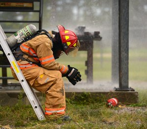 The first criteria for a clinical diagnosis of PTSD is being exposed to actual or threatened death, injury or violence. Most firefighters meet that criteria by the time they have been on the job a month. (Photo/USAF)